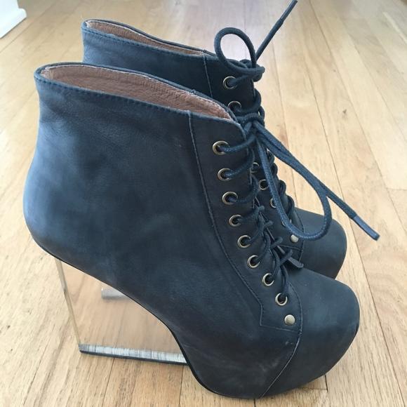 9f2fbaa0af69 Jeffrey Campbell Shoes - Jeffrey Campbell Dina Acrylic Heel Boots
